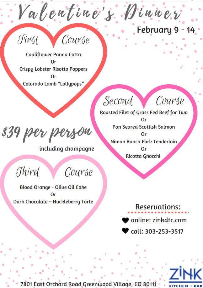 Zink Valentine's Dinner February 2018