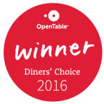 Zink DTC OpenTable Diners' Choice 2016 Winner